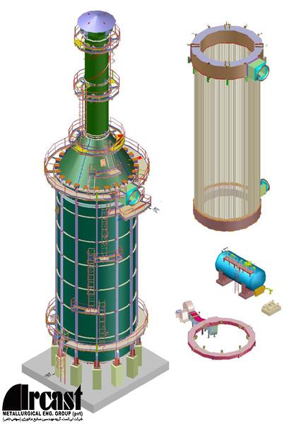 Ircast Cylindrical Air Preheaterr