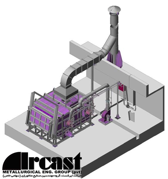 Ircast Aluminium melting furnace