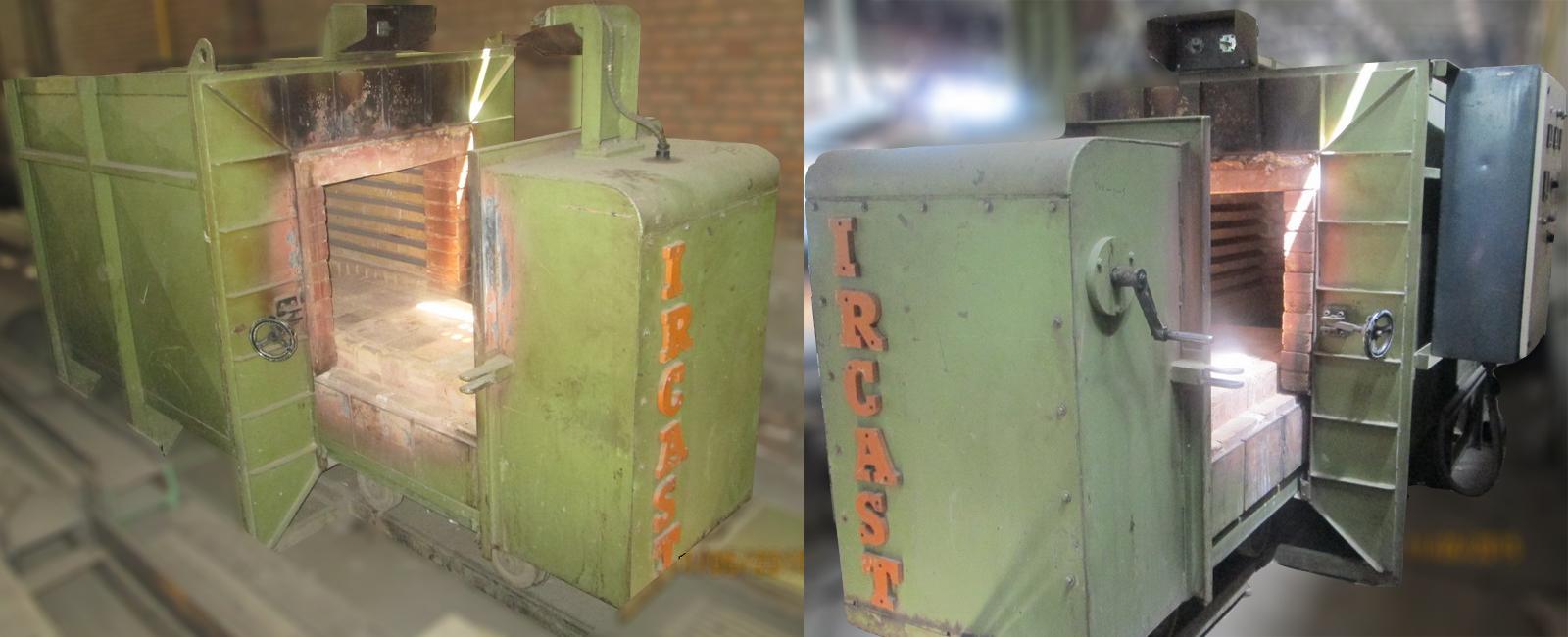 Car bottom heat treatment furnace