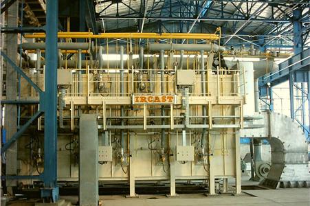ایرکست کوره واگنی آنیلینگ قطعات فولادی